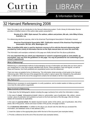 harvard referencing library quick guide The university of south wales guide to harvard referencing revised edition february 2015.