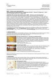 Schulbrief XXVII_2007 - Staatliche Museen zu Berlin