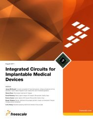 Integrated Circuits for Implantable Medical Devices - Freescale ...