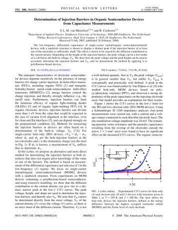 Determination of Injection Barriers in Organic Semiconductor Devices