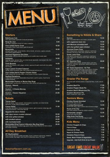 Download Menu - Wharf Tavern