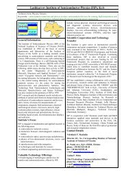 Lashkaryov Institute of Semiconductor Physics (ISP) - Science and ...
