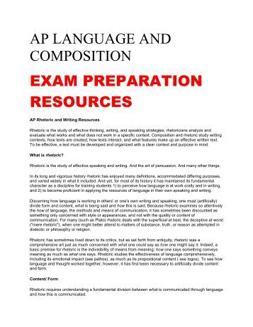 A question about the AP Language and Composition exam?
