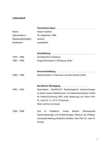 curriculum vitae publikationen spital waldshut - Publikationen Im Lebenslauf