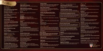 Bar Menu - The Hackney Hotel
