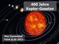 400 Jahre Kepler-Gesetze