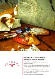 """Beckers""""A"""" – the classical Nordic oil colour for artist - Colart"""