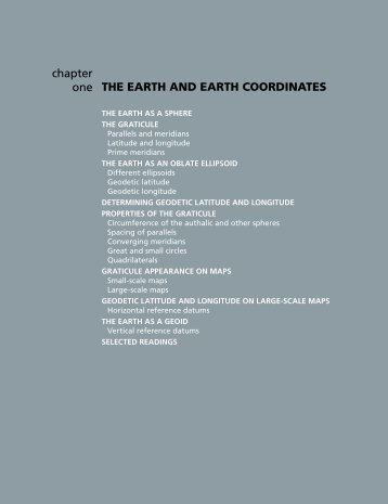 THE EARTH AND EARTH COORDINATES chapter one