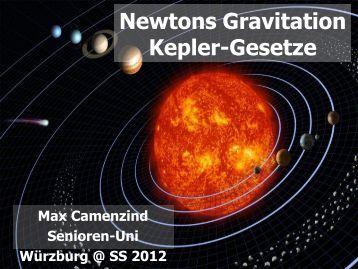 Keplersche Gesetze.