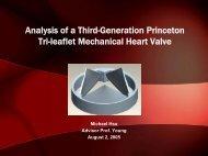 Analysis of a Third-Generation Princeton Tri-leaflet Mechanical ...