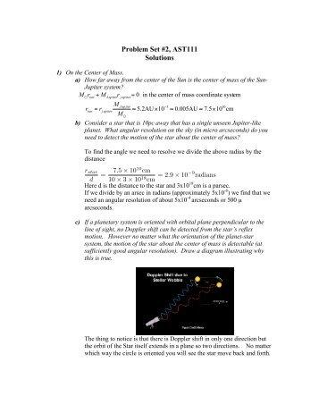 Problem Set #2, AST111 Solutions