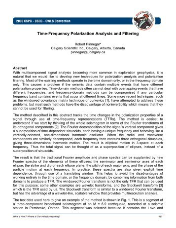 Time-Frequency Polarization Analysis and Filtering