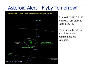 Asteroid Alert! Flyby Tomorrow! - SFSU Physics & Astronomy