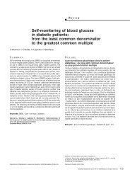 Self-monitoring of blood glucose in diabetic patients: from ... - Alfediam