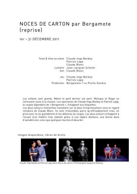BERGAMOTE NOCES DE CARTON - Le Poche