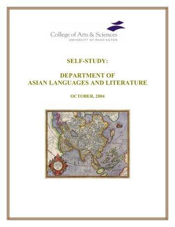 Department Self-Study Report - Asian Languages & Literature ...