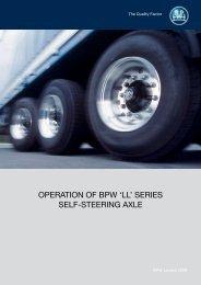 OPERATION OF BPW 'LL' SERIES SELF-STEERING AXLE