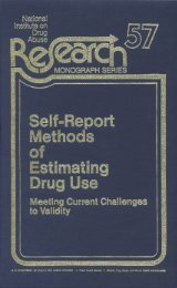 Self-Report Methods of Estimating Drug Use - ARCHIVES - National ...