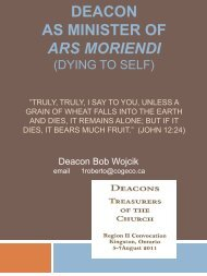Deacon as Minister of Ars Moriendi (Dying to Self)