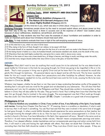 1-13-2013 - Attitude Counts Philippians 2:5 - pitwm.net