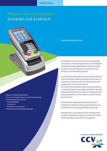 Datenblatt VeriFone Vx820duet - S/M DATA Service und Marketing ...