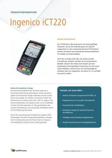 Ingenico iCT220 - S/M DATA Service und Marketing GmbH