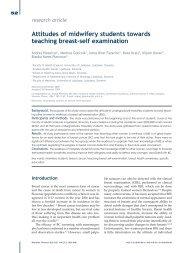 Attitudes of midwifery students towards teaching breast-self ...