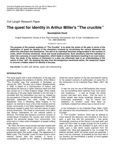 research paper on arthur miller