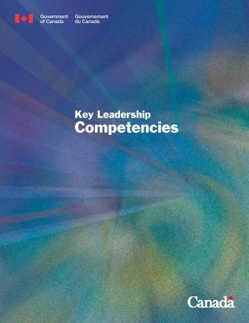 Key leadership competencies in booklet form (PDF version