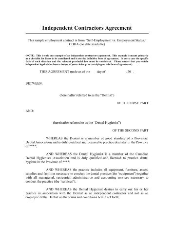 Oral Employment Contract 71