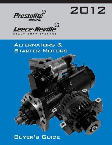 Alternators & Starter Motors Buyer's Guide - Prestolite Electric Inc.