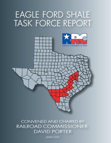 EAGLE FORD SHALE TASK FORCE REPORT