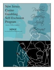 Self-Exclusion Brochure - State of New Jersey
