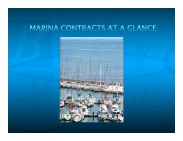 Marina Storage Agreements At A Glance Slides - Brais & Brais