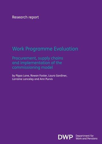 Work Programme Evaluation