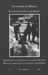 International Journal of Canadian Studies / Revue internationale d