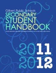 Secondary Student Handbook - Gilbert Public Schools