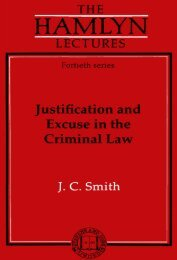 Justification and Excuse in the Criminal Law - College of Social ...