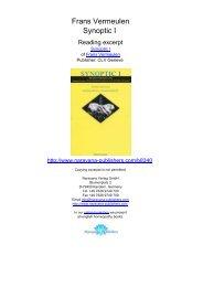 Frans Vermeulen Synoptic I - Homeopathy books, Narayana ...