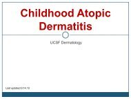 Childhood Atopic Dermatitis - Dermatology