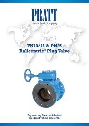 PN10/16 & PN25 Ballcentric® Plug Valve - Henry Pratt Company