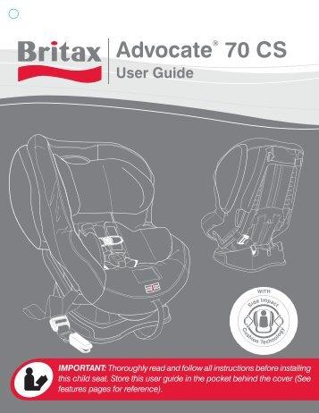 britax advocate 70 cs user manual rh yumpu com Britax Diplomat Britax Diplomat