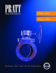 30071 Ballcentric Plug Valve - Henry Pratt Company