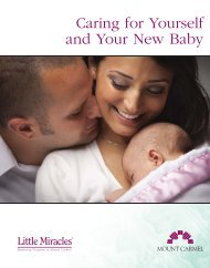 Caring for Yourself and Your New Baby - Mount Carmel