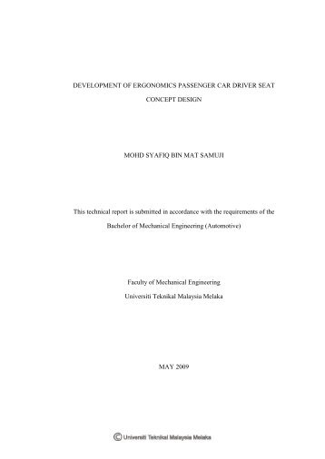 Ergonomic Investigation Of Occupational Drivers And Seat Design Of