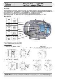 "TBH Plunger valve Type PLV DN200(8"")-1400(55"") PN6-25"
