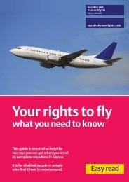 Your Rights To Fly – EHRC - Equality and Human Rights Commission