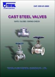 CAST STEEL VALVES - ATC Tecnoval, SA