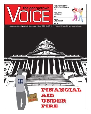 FINANCIAL AID UNDER FIRE - The Georgetown Voice