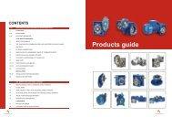 Catalogue of NMRV worm gear reducer - Zetek